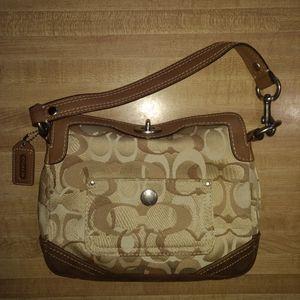 Coach Optic Turn-Lock Mini Hobo Purse Handbag